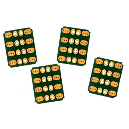 Emcotec Soldering PCB 90° 8pin, 4 Pieces A85320
