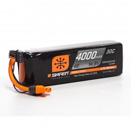 Spektrum 4000mAh 4S 14.8V Smart LiPo Battery 30C IC3 SPMX40004S30