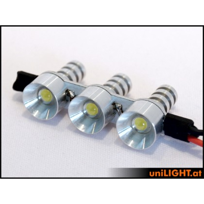 UniLight 2W x 3 Triple Spotlight 12mm White