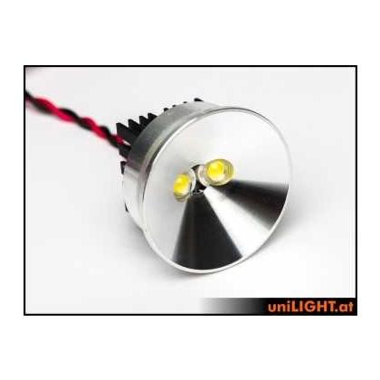UniLIght 35mm Aluminum Headlights, 8Wx2, T-FUSE SPOT35F