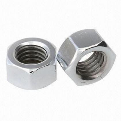 4-40 UNC Plain Steel Nuts