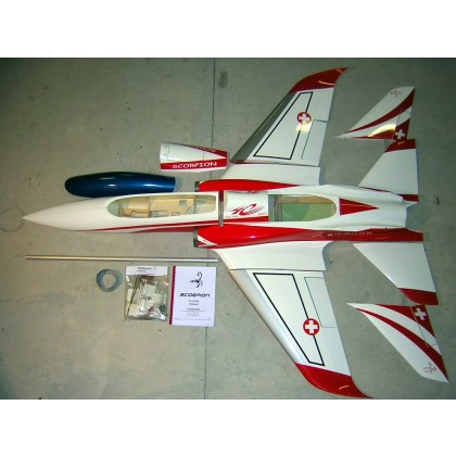 Super Scorpion Jet for 14 to 18 kg (31 - 40 lbs.) Thrust Jet Engine from Aviation Design Choice of Schemes