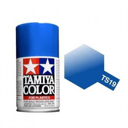 Tamiya TS-19 Metallic Blue Spray Paint 85019