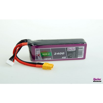 Hacker TopFuel Eco-X 4S 2400mAh 20C MTAG LiPo Battery 92400431