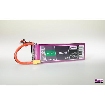 Hacker TopFuel ECO-X 4S 3000mAh 20C MTAG LiPo Battery 93000431