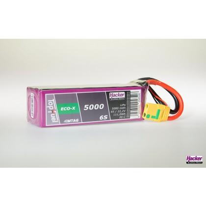Hacker TopFuel ECO-X 6S 5000mAh 20C LiPo Battery With MTAG