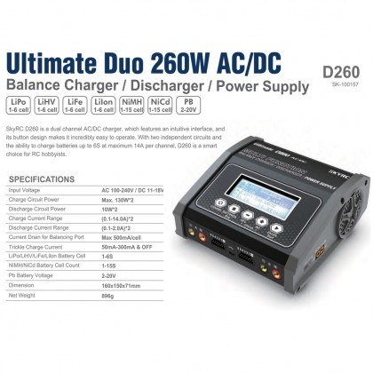 Ultimate Duo 260W AC/DC from SKY RC SK-100157