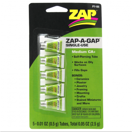 ZAP PT105 Zap-A-Gap Medium CA+ Single Use 0.01oz Tubes (medium)