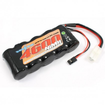 Voltz 4600mAH 6.0V Receiver Sub-C Pack with BEC/JR Plug VZ0135