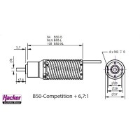 B50-9L Competition + 6,7:1 Kv 2430 from Hacker Motor