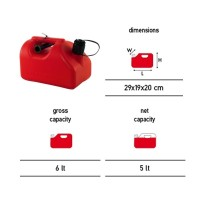 Dimartino Jerry Can Fuel Tank 5 Litre 2 Spout Approved Transport Road Rail Sea & Air 5L As used on the Nexus Fuel Caddy