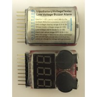 1S-8S Lipo Battery Low Voltage Alarm with Cell Voltage Checker Display