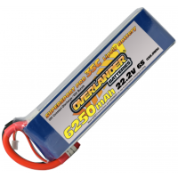 6250mAh 6S 22.2v 35C LiPo Battery - Overlander Supersport Pro