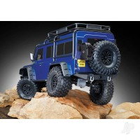 Blue TRX-4 Scale and Trail Crawler with Land Rover Defender Body 1/10 Scale 4WD Electric Trail Truck RTR with TQi Traxxas Link Enabled 2.4GHz Radio System XL-5 HV ESC and Titan 550 motor TRX82056-4-Blue from Traxxas