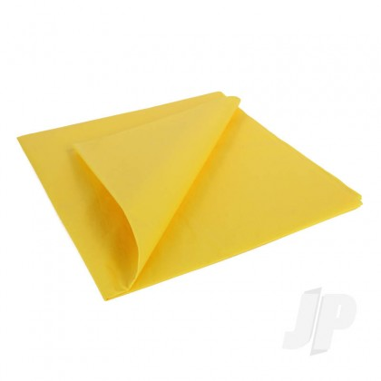 JP Trainer Yellow Lightweight Tissue Covering Paper, 50x76cm, (5 Sheets) 5525203