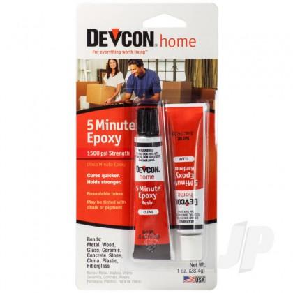 Devcon 1oz 5 Minute Epoxy (2x .5oz Tubes, Carded) DEV20545