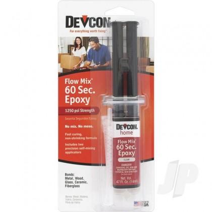 Devcon 14ml 60 Second Epoxy Flow-Mix (Syringe, Carded) DEV21445