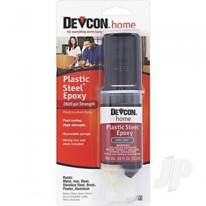 Devcon 25ml Plastic Steel Epoxy (Syringe, Carded) DEV62345