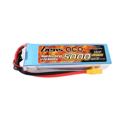 Gens Ace LiPo 5S 18.5V 5000mAh 60C with XT90 G5S5000-60X9