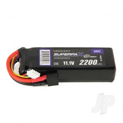 Radient LiPo 3S 2200mAh 11.1V 30C HCT RDNB22003S30H
