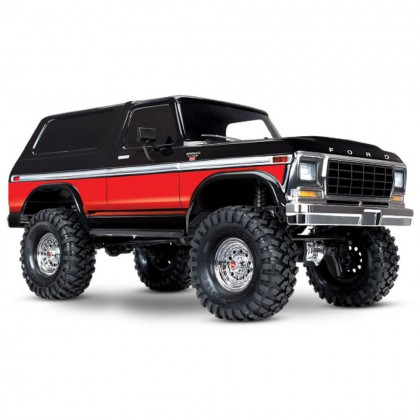 Traxxas Red TRX-4 Scale and Trail Crawler with Ford Bronco Body 1/10 Scale 4WD Electric Truck RTR with TQi Traxxas Link Enabled 2.4GHz Radio System XL-5 HV ESC and Titan 550 motor TRX82046-4-RED