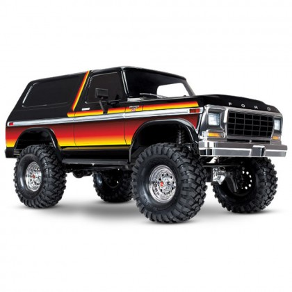 Traxxas Sunset TRX-4 Scale and Trail Crawler with Ford Bronco Body 1/10 Scale 4WD Electric Truck RTR with TQi Traxxas Link Enabled 2.4GHz Radio System XL-5 HV ESC and Titan 550 motor TRX82046-4-SUN