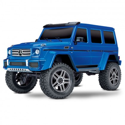 Traxxas BLUE TRX-4 Scale and Trail Crawler with Mercedes-Benz G 500 4x4 Body 1/10 Scale 4WD Electric Trail Truck RTR with TQi Traxxas Link Enabled 2.4GHz Radio System XL-5 HV ESC and Titan 550 motor TRX82096-4-BLUE