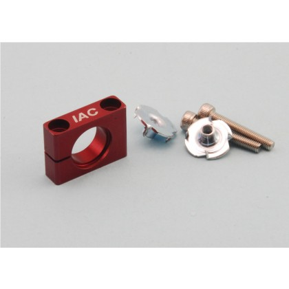 Intairco Red Alloy Ball Valve Mount to Suit 4 or 6mm Festo Shutoff Taps IAC-238
