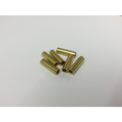 Crimping Ferrule for 1.5mm Nylon trace wire - Brass 6 Pack 3.17mm ID