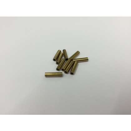 Crimping Ferrule for 0.7mm Closed Loop Nylon trace wire - Brass 10 Pack