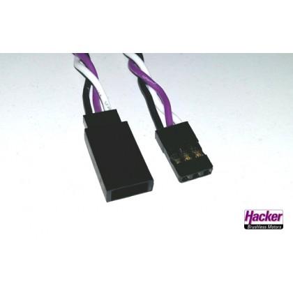 Hacker Ditex Servo Extension Lead 0.32mm x 15cm 50023015