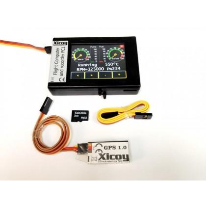 Xicoy Flight Computer Full Kit inc GPS & Jeti Air Speed Kit FC1FGPSXi