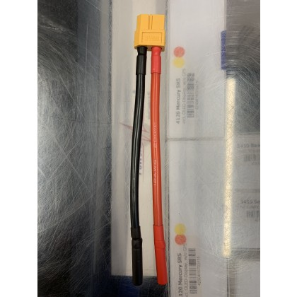 Charge Lead Converter for the iCharger X6  XT60 to 4mm Gold Bullets from Electriflyer