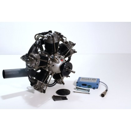 Moki S 250 Radial 5 Cylinder Engine With Exhaust Collector CARF AT-6