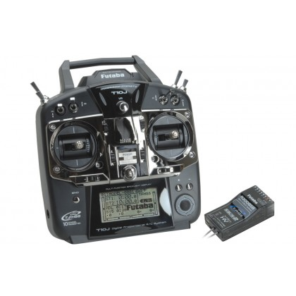 Futaba 10J 10 Channel 2.4GHz Computer Radio System With R3008SB (Mode 2) P-CB10J/L