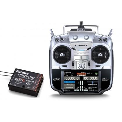 Futaba T18SZ - 18 Channel 2.4GHz Radio Transmitter & R7014SB Receiver (Mode 1)