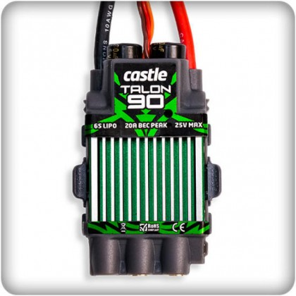 Castle Talon 90 , 25V 90 AMP ESC, with high output BEC from Castle Creations