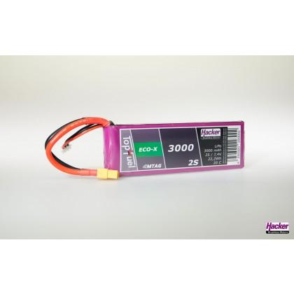 Hacker TopFuel ECO-X 2S 3000mAh 20C LiPo Battery With MTAG XT60 93000231