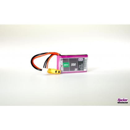 Hacker TopFuel ECO-X 2S 500mAh 25C LiPo Battery XT60 90500241