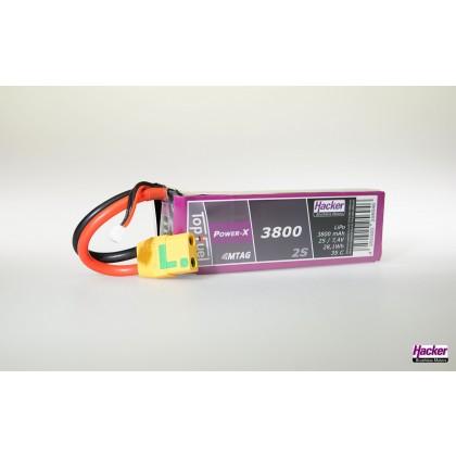 Hacker TopFuel LiPo 35C Power-X 3800mAh 2S MTAG 93800261
