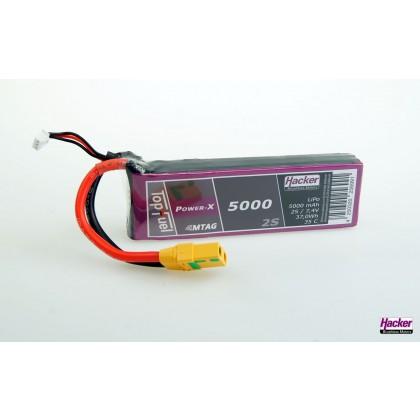 Hacker TopFuel Power-X 2S 5000mAh 35C LiPo Battery XT90AS MTAG 95000261
