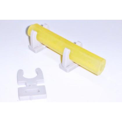 Tube Holder Tygon 6.6mm Single Grey Click Holder from STV-Tech 011S-13G