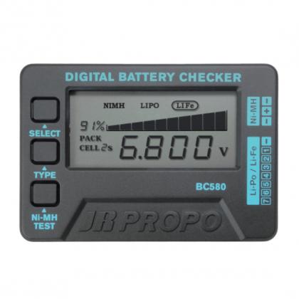 JR Propo Digital Lithium Battery Checker BC580