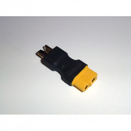 XT60 Female - Deans Male Compact Adapter From Electriflyer