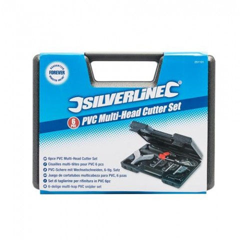 Silverline PVC Multi-Head Cutter Set 6pce
