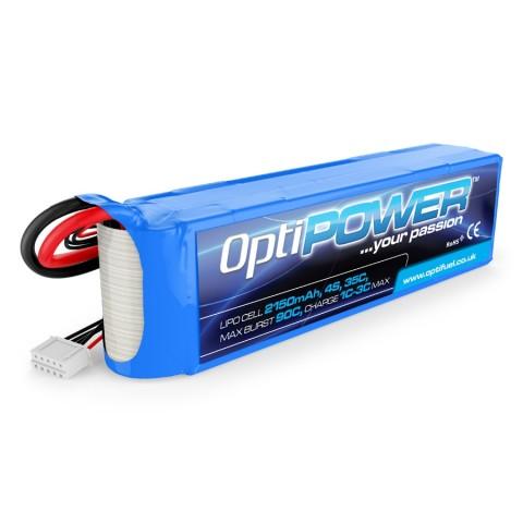 Optipower LiPo Battery 2150mAh 4S 35C OPR21504S