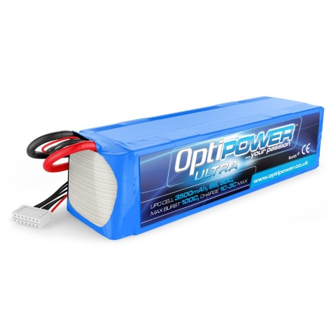 Optipower LiPo Battery 3500mAh 6S 50C With EC5 Connector OPR35006S50