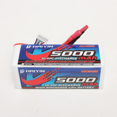 Haiyin - 6S 5000mAh 30-40C High Discharge LiPo Battery