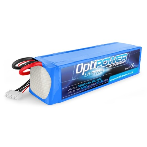 Optipower LiPo Battery 5800mAh 6S 50C OPR58006S50