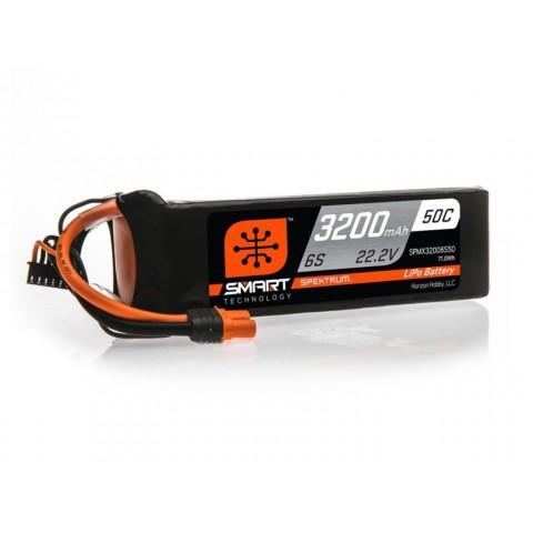 Spektrum 3200mAh 6S 22.2V 50C Smart LiPo Battery IC5 SPMX32006S50